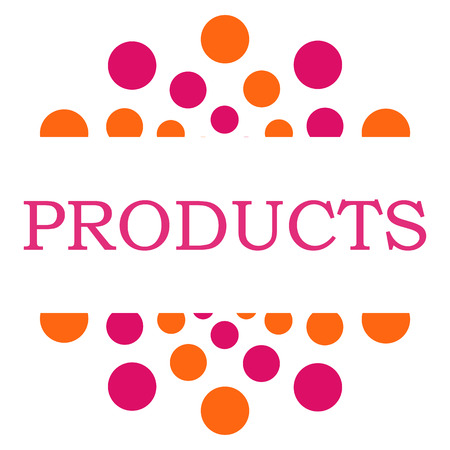 gamme de produit: Products Pink Orange Circular