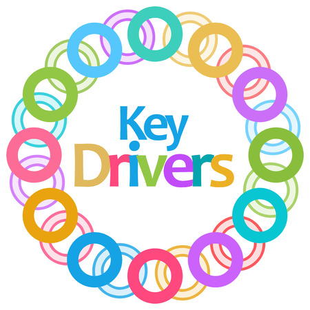 Key Drivers Colorful Circular Background Stock Photo