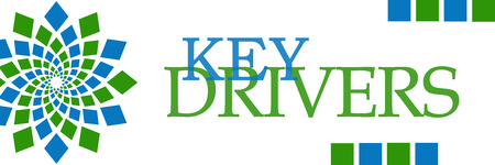 Key Drivers Green Blue Squares Horizontal