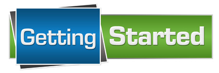 getting started: Getting Started Green Blue Horizontal