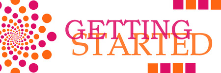 getting started: Getting Started Pink Orange Dots Horizontal