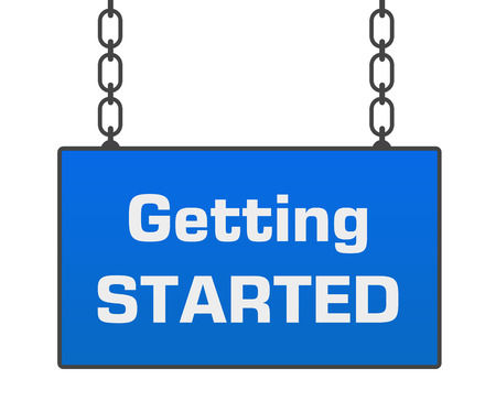getting started: Getting Started Blue Signboard