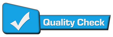 quality check: Quality Check Blue Triangle Horizontal
