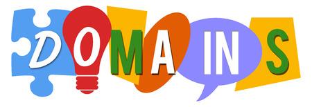 domains: Domains Colorful Random Shapes Stock Photo