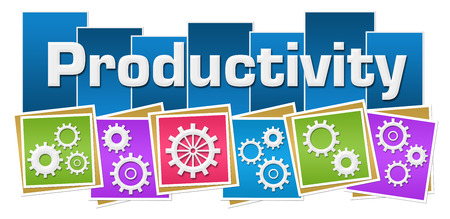 sprockets: Productivity Gears Colorful Squares Stripes