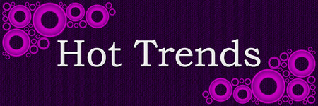 craze: Hot Trends Purple Pink Rings Background