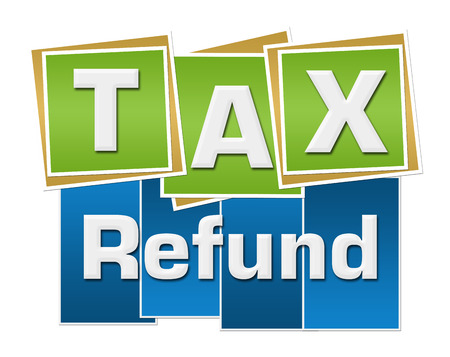 Tax Refund Green Blue Squares Stripes