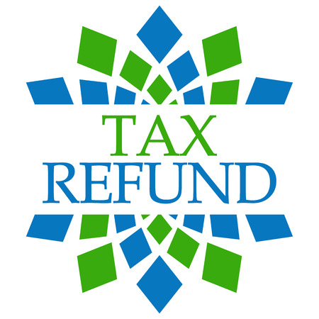 Tax Refund Green Blue Squares Circular