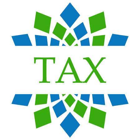 blue green background: Tax Green Blue Circular Background