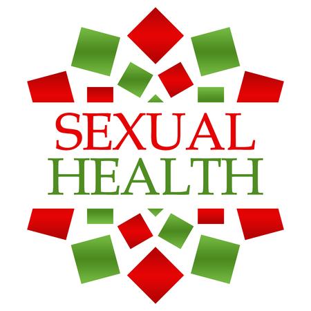 salud sexual: Fondo circular Verde Rojo Salud Sexual