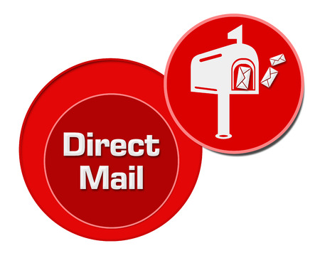 direct mail: Direct Mail Red Circles Stock Photo