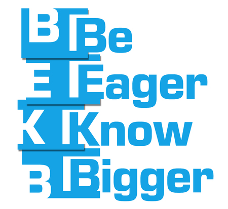 bigger: Be Eager Know Bigger Blue Abstract Stripes