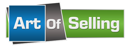 soft sell: Art Of Selling Green Blue Horizontal