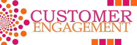 involvement: Customer Engagement Pink Orange Dots Horizontal