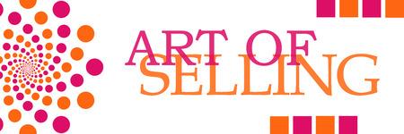 soft sell: Art Of Selling Pink Orange Dots Horizontal Stock Photo