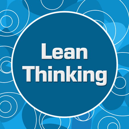 Lean Thinking Blue Random Rings Circle Stock Photo