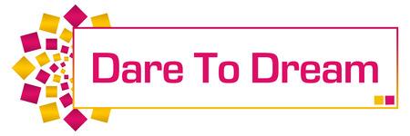 dare: Dare To Dream Pink Golden Circular bar