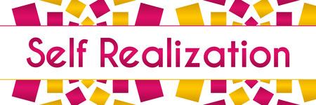 personality development: Self Realization Pink Golden Texture Horizontal