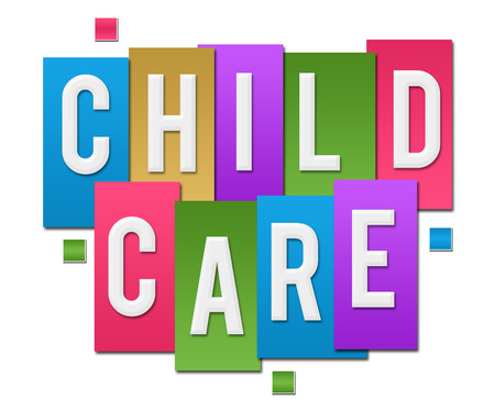 child care: Child Care Colorful Stripes Group