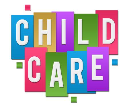 Grupo colorido de las rayas del cuidado de niños