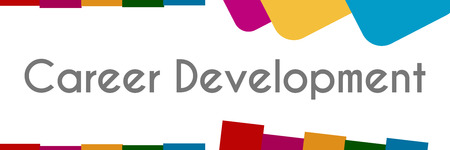 career development: Career Development Colorful Abstract Stripes