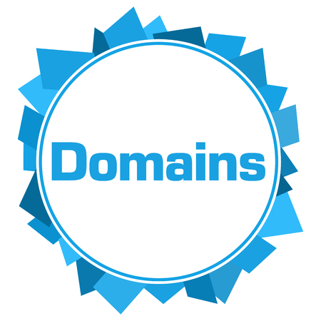 domains: Domains Blue Random Shapes Circle
