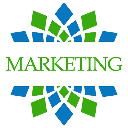 Markting Green Blue Circular