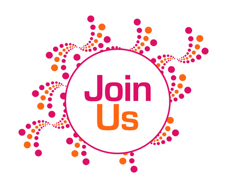Join Us Pink Orange Abstract Dots