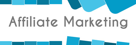 affiliate marketing: Affiliate Marketing Blue Abstract Shapes