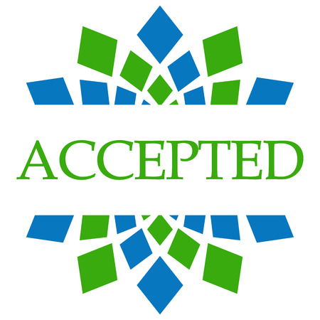 accepted: Accepted Green Blue Circular