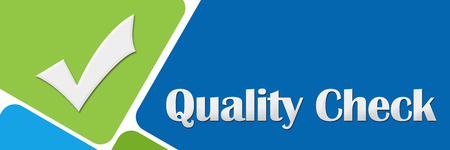 Quality Check Green Blue Rounded Squares