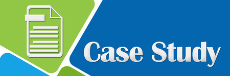Case Study Green Blue Rounded Squares Stock Photo