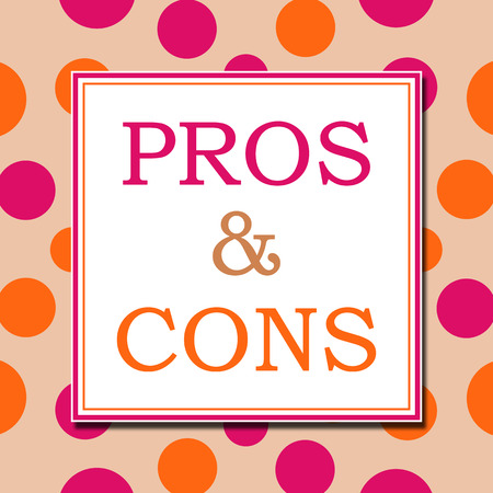 cons: Pros And Cons Pink Orange White Square