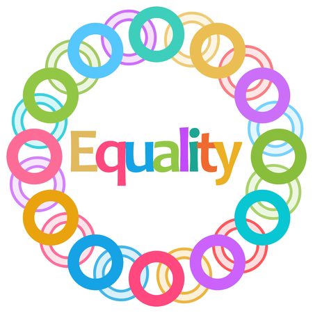 Equality Colorful Rings Circular Stock Photo