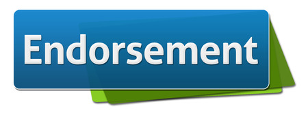 Endorsement Green Blue Rotated Squares Stock Photo
