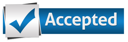 accepted: Accepted Blue Grey Horizontal