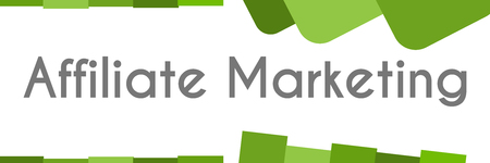 Affiliate Marketing Green Abstract Shapes Stock Photo