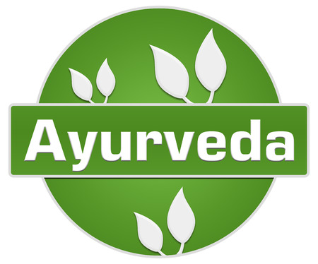 Ayurveda Green Circle Leaves Stock Photo