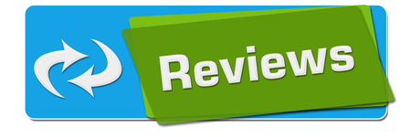 reviews: Reviews Green Blue Rotated Square