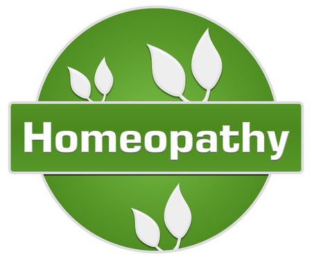 homeopathy: Homeopathy Green Leaves Circle