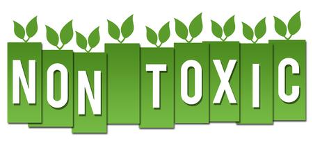 non: Non Toxic Green Stripes Leaves