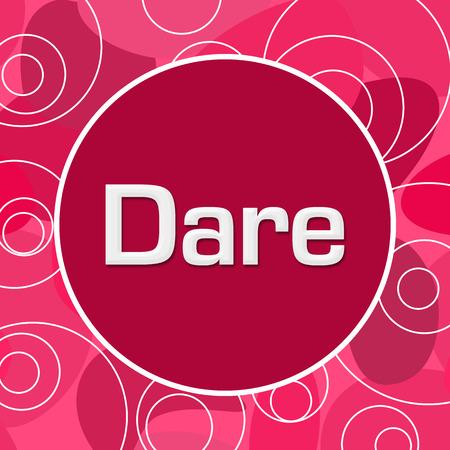 Dare Pink Random Circles Background