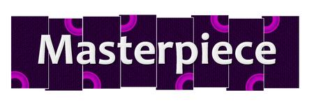 curator: Masterpiece Purple Pink Rings Horizontal
