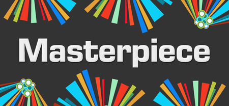 masterpiece: Masterpiece Dark Colorful Elements Stock Photo