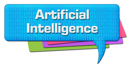 advanced computing: Artificial Intelligence Binary Colorful Comment Symbol
