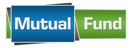 fund: Mutual Fund Green Blue Horizontal Stock Photo