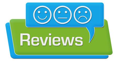 reviews: Reviews Green Blue Comment Symbol