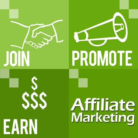 affiliate marketing: Affiliate Marketing Green Four Blocks