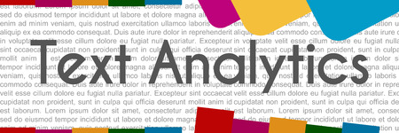 Text Analytics Colorful Abstract Shapes