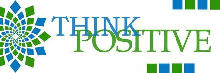 Think Positive Green Blue Circular Horizontal